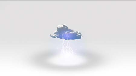 White Space with single cloud Stock Photo - 32279607