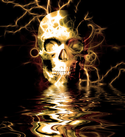 human face: Skull Reflection