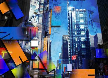 artwork: City Architecture Artwork Stock Photo