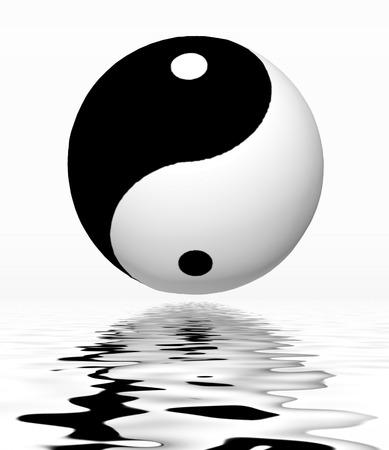reflection: Yin Yang Reflection Stock Photo
