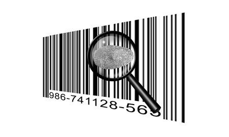 codebar: Finger Print Barcode
