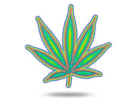 marihuana: Cannabic Leaf with Spectrum