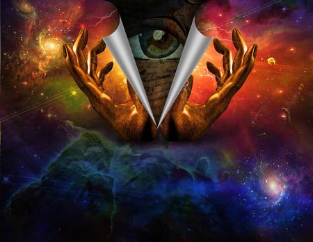eternal life: Watching eye underneath revealed