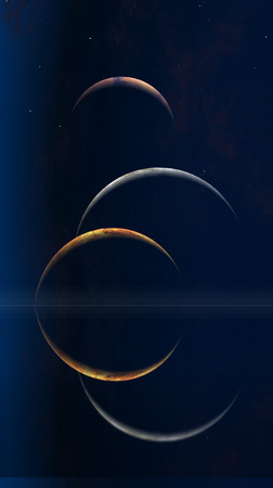 astral: Three moons and Quiet Sea
