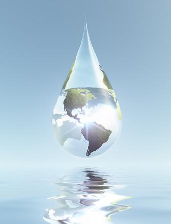 Americas Drop Standard-Bild