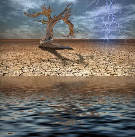 deluge: Desert Deluge Stock Photo