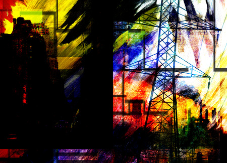 City Industrial Abstract photo