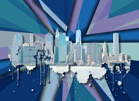 new york skyline: Skyline New York City