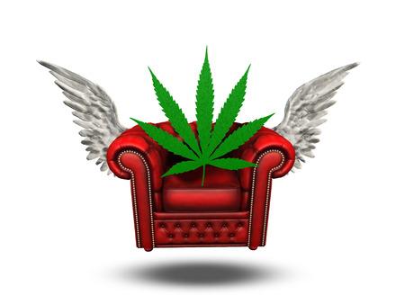 Winged Chair and Marijuana leaf photo