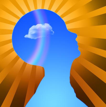 reasoning: Human Head Radiates