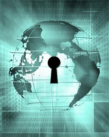 Earth Binary Code and Key Stockfoto