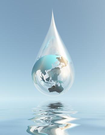 Australia and Asia droplet photo