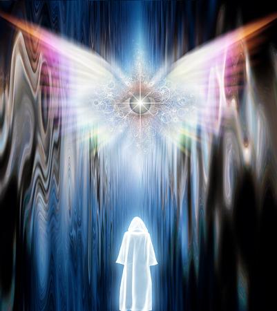 ange gardien: Figure masquée avant Winged yeux