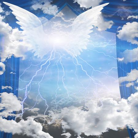Engel geflügelt Standard-Bild - 35651388