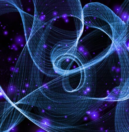 binary code: Streams of swirling binary code