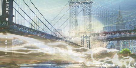 moon  metropolis: NYC Composition