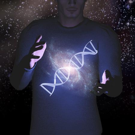 DNA and Stars Human photo