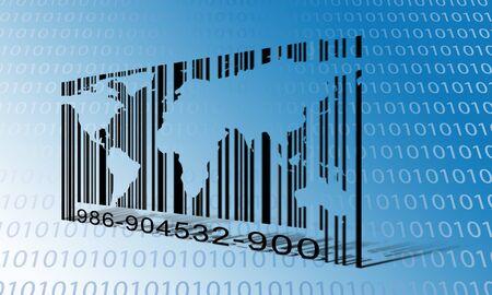 World Binary Barcode photo