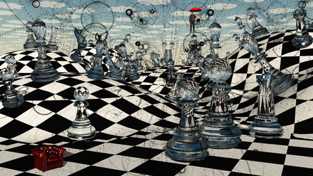 surrealistic: Fantasy Chess Stock Photo