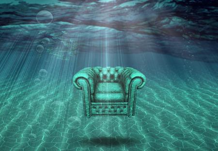 Sessel Meeresboden schwebt Standard-Bild - 38947920