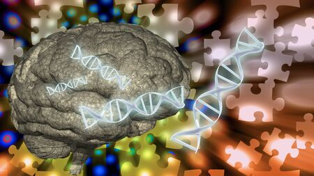 brain puzzle: Dna abd brain puzzle