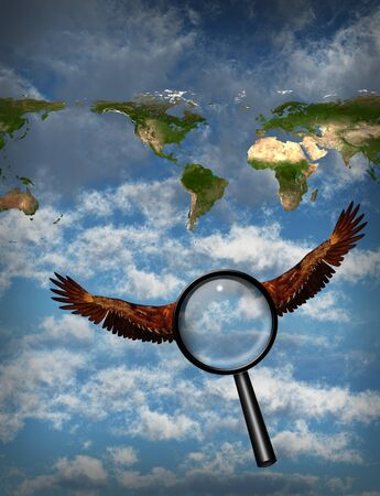 web browser: Searching the planet Stock Photo
