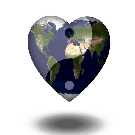 universal enlightenment: Earth Heart Yin Yang
