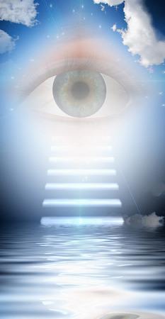 high spirits: Stairs lead to eye