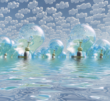 multitude: Multitude of human head shaped bulbs