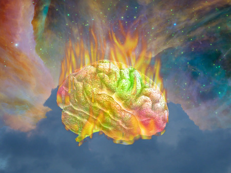 concept magical universe: Burning Psychedelic