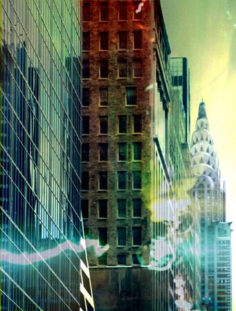 chrysler building: NYC Street Stock Photo