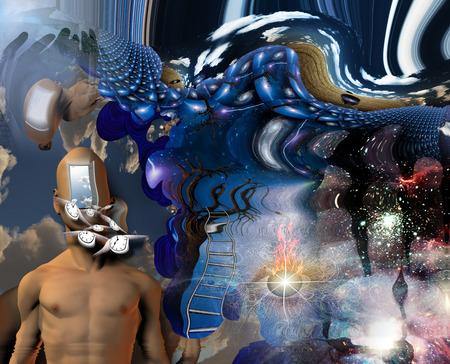 open brain: Surreal Melting Art