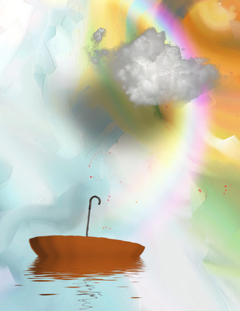 Rainbow and Cloud Painting