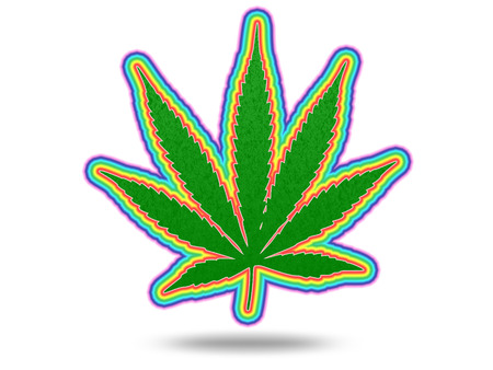 Cannabic Leaf with Spectrum