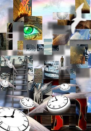 Complexe Surreal Art abstrait Banque d'images - 41224543