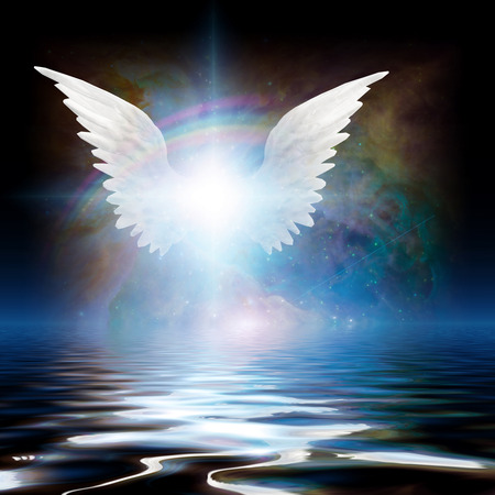 wings icon: Angel Stock Photo