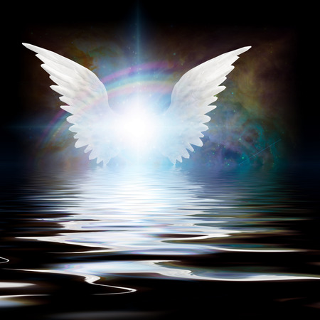 water wings: Angel Stock Photo