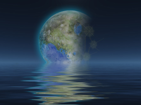 civilizations: Terraformed Luna Stock Photo