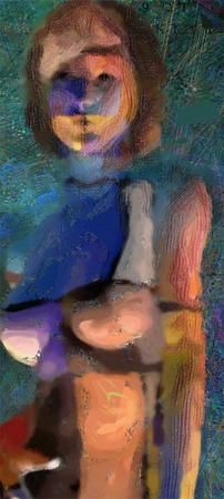 Mujer desnuda pintada Foto de archivo - 43048248