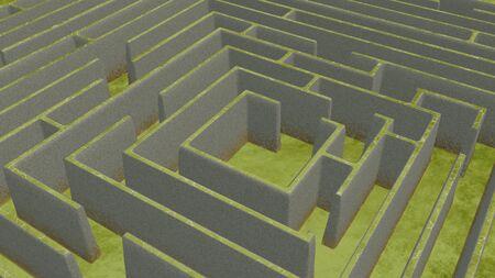 Green Maze from above 版權商用圖片