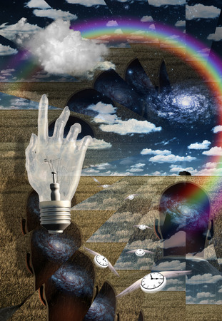 concept magical universe: Mind and concpet illustration Stock Photo