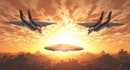 estrellas  de militares: Jets militares Proseguir UFO