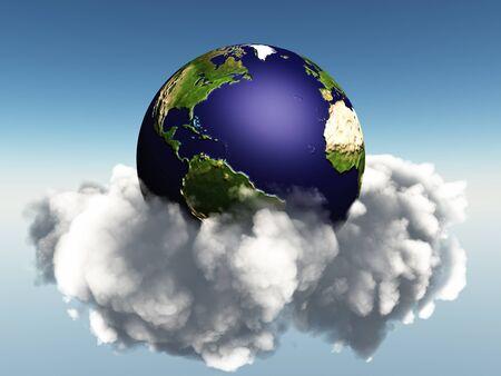 지구와 구름 일반
