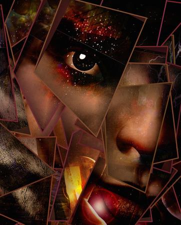 black eye: Dark Emotion Face