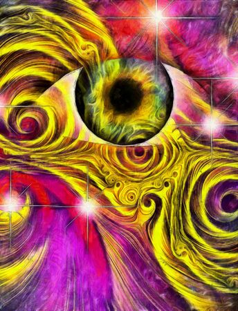 hallucination: Hallucinagenic Style Eye and Pattern