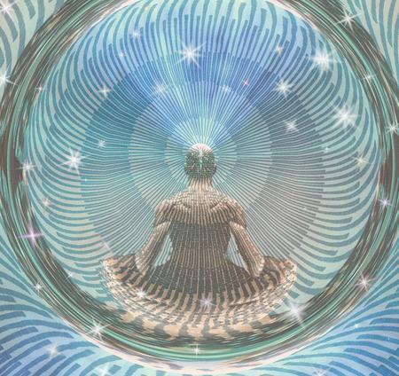 Meditating Man and Energy