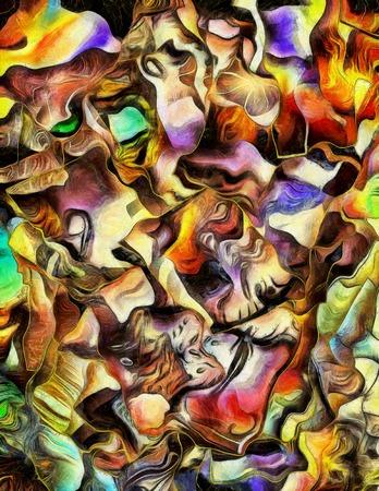 pintura abstracta: Colorida pintura abstracta dimensional