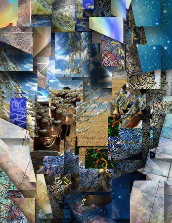 layered: Abstract Surreal Layered Image