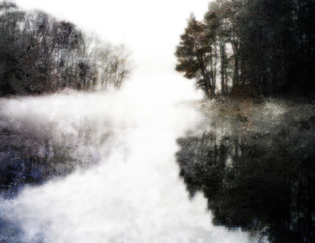 painterly: Painterly Water Landscape