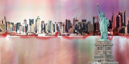 自由とニューヨークの像